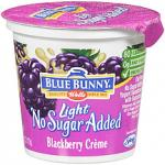 Yogurt Light No Sugar Added Blackberry Crème